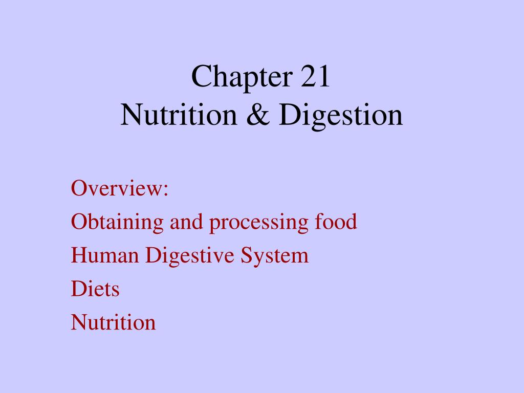 chapter 21 nutrition digestion l.