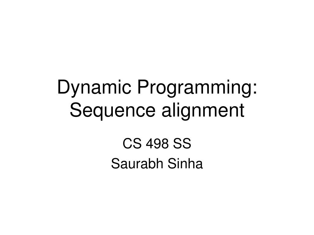 dynamic programming sequence alignment