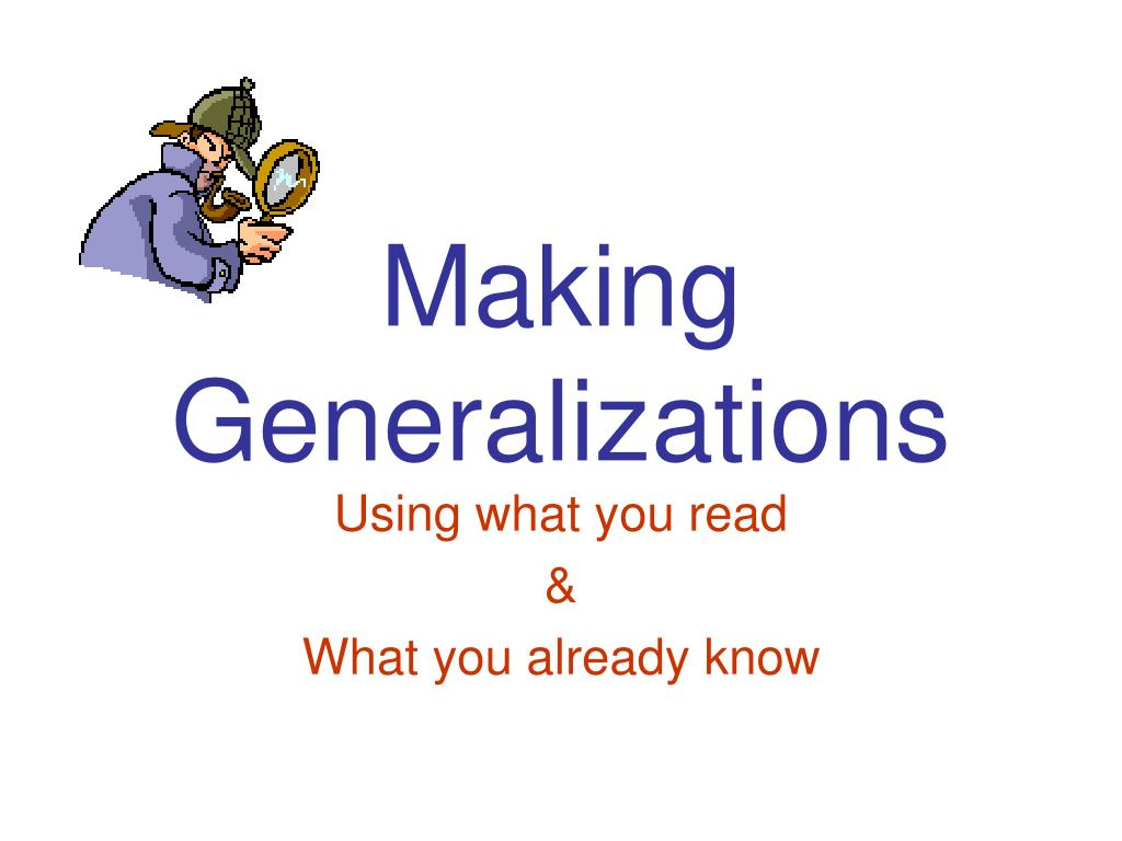 making generalizations l.