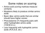 some notes on scoring