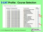 i cat profile course selection17