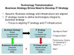 technology transformation business strategy drives need to develop it strategy