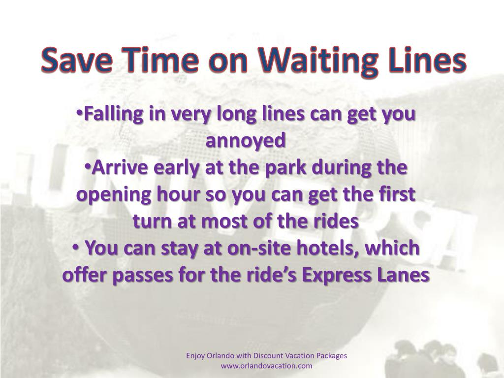 Save Time on Waiting Lines