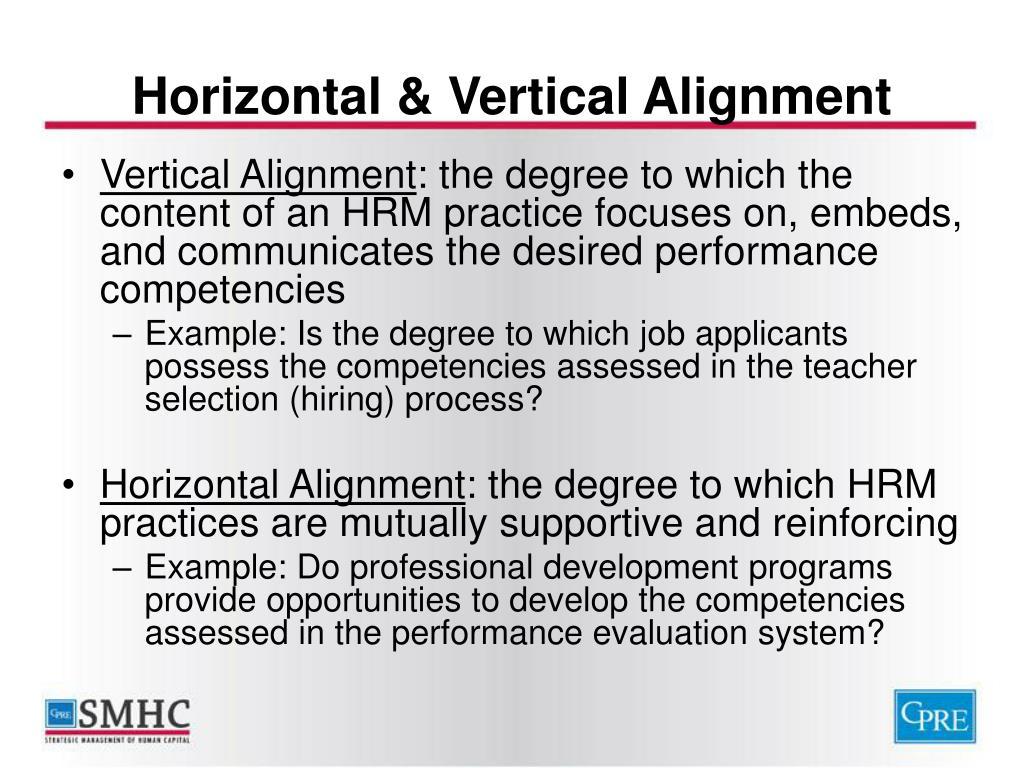 Horizontal & Vertical Alignment