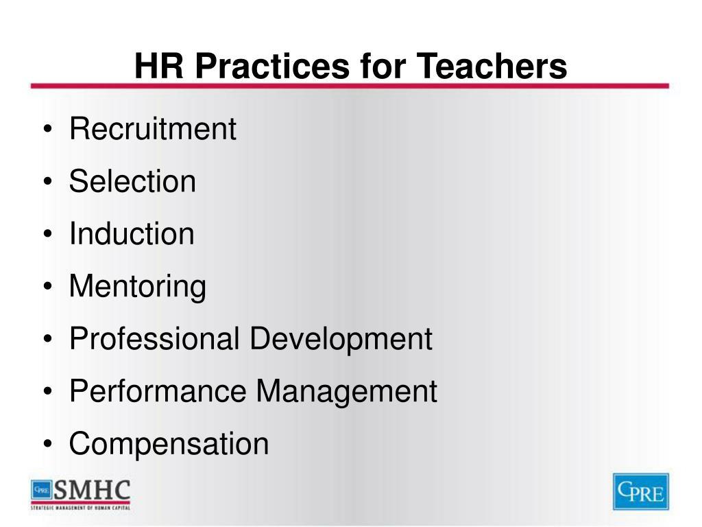 HR Practices for Teachers