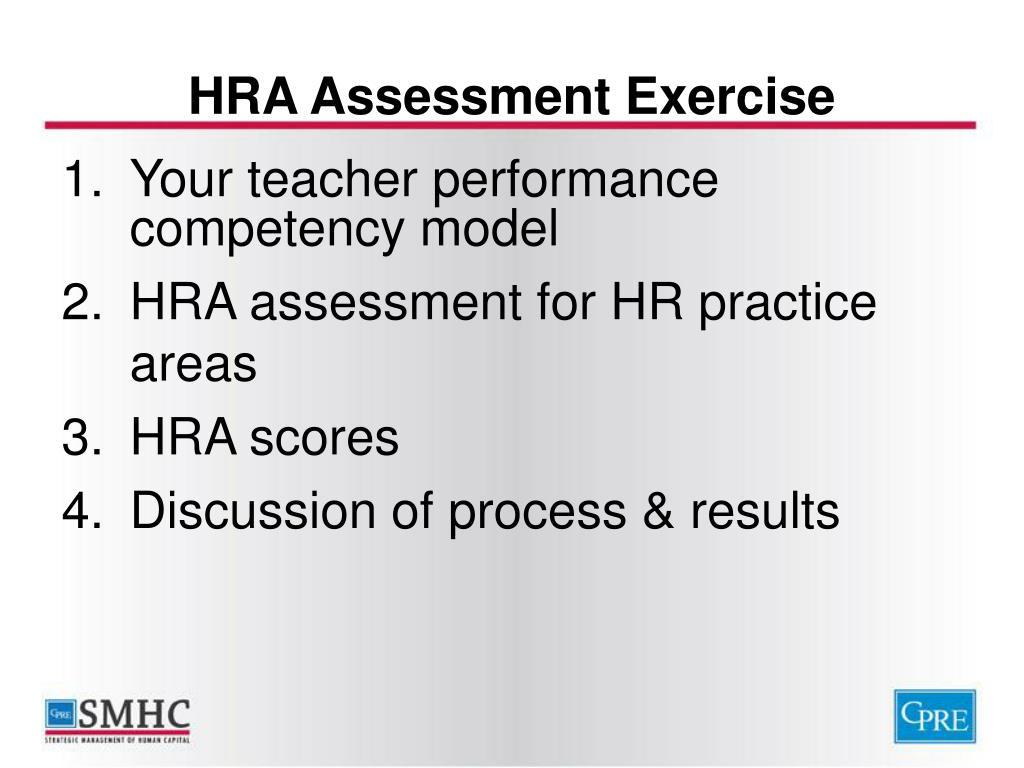 HRA Assessment Exercise