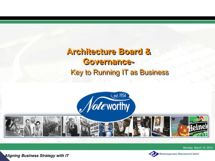 Architecture board governance key to running it as business