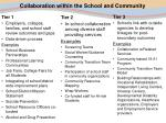 collaboration within the school and community17