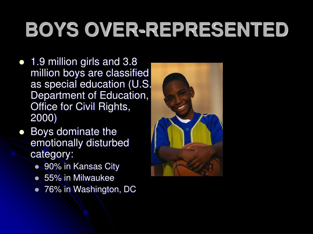 BOYS OVER-REPRESENTED
