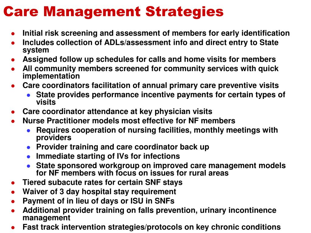Care Management Strategies