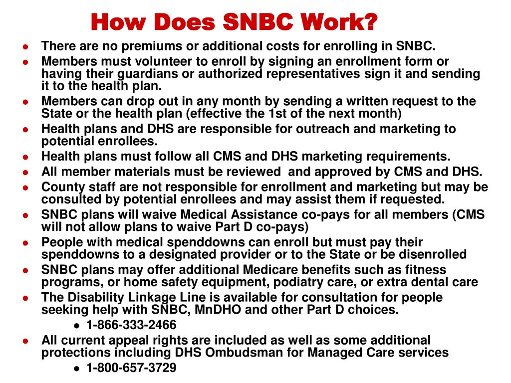 How Does SNBC Work?