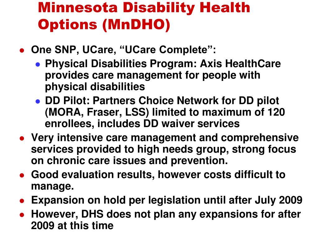 Minnesota Disability Health Options (MnDHO)