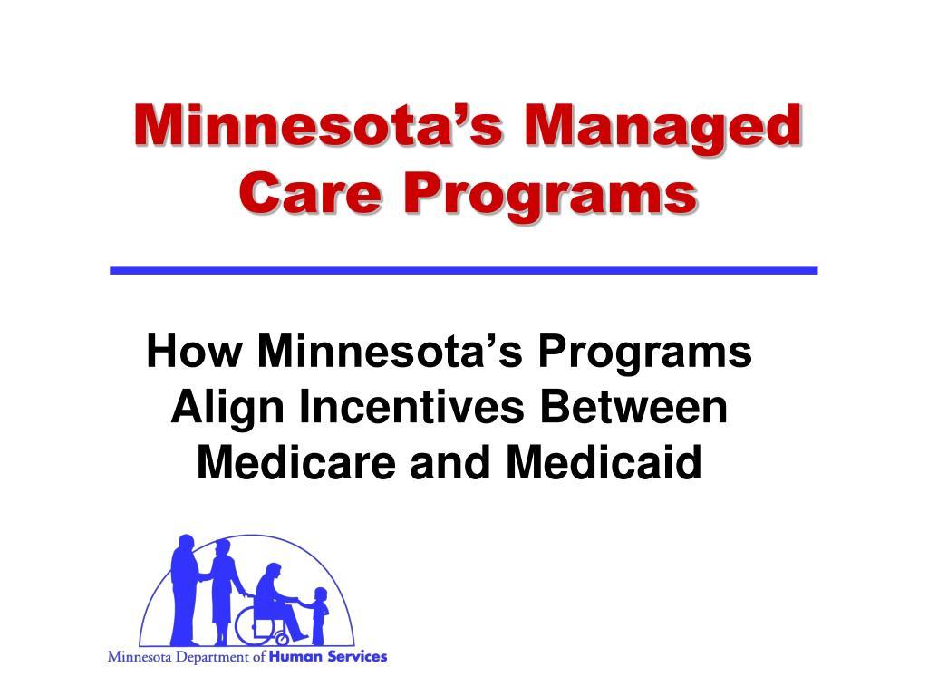 Minnesota's Managed Care Programs