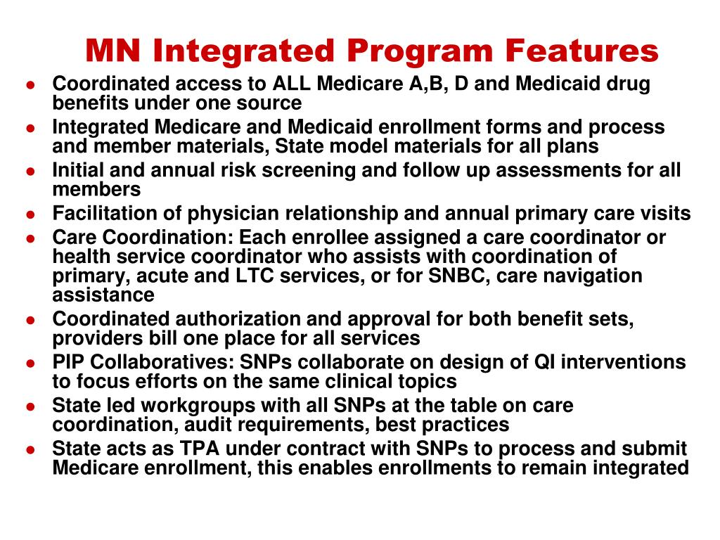 MN Integrated Program Features