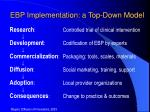 ebp implementation a top down model