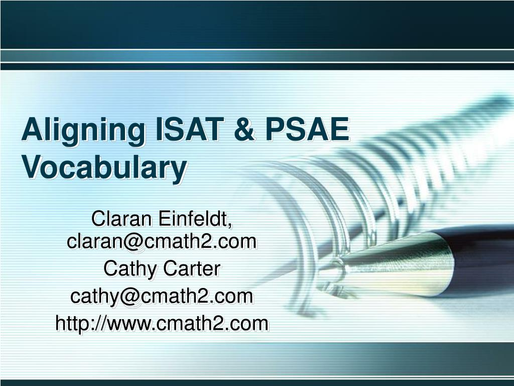 aligning isat psae vocabulary l.