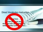 direct vocabulary instruction