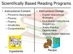 scientifically based reading programs44