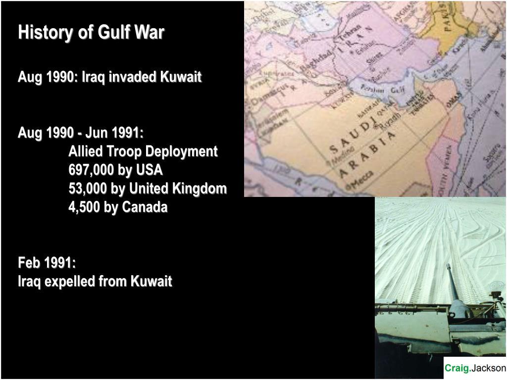History of Gulf War