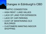 changes in edinburgh s cbd