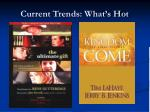 current trends what s hot