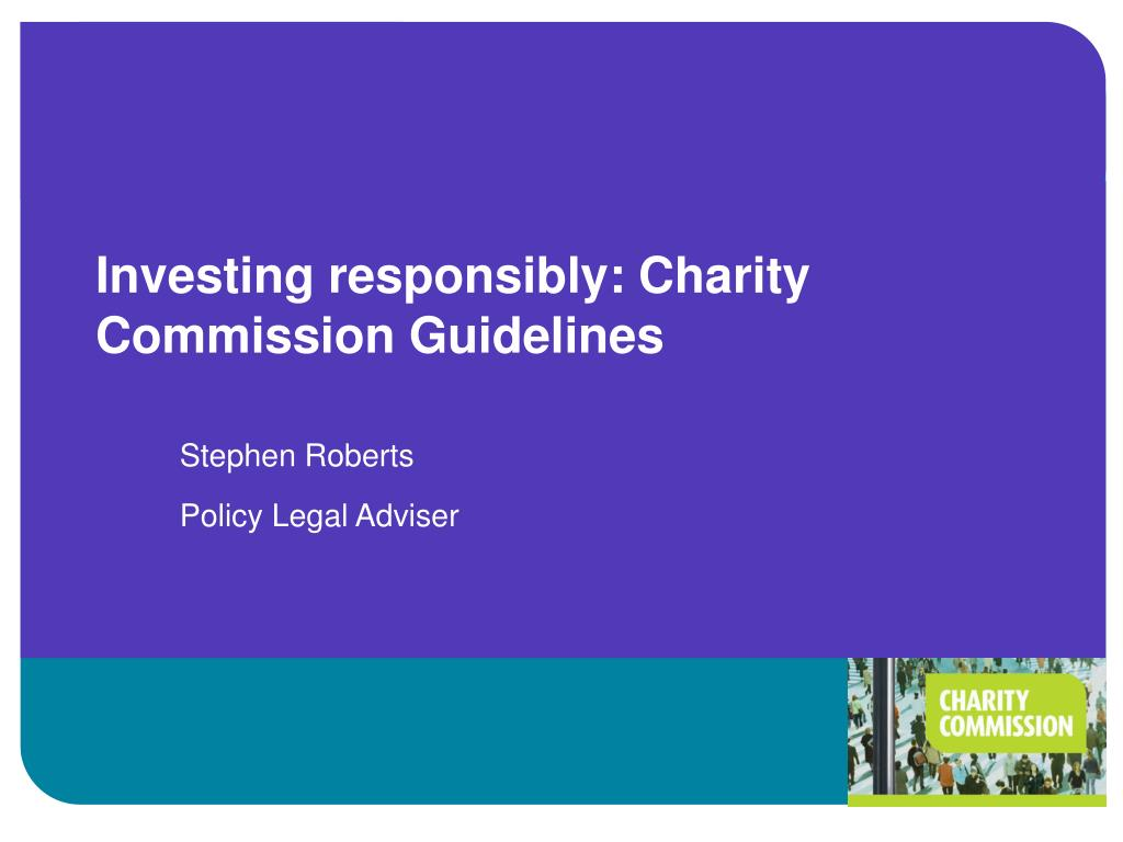 investing responsibly charity commission guidelines l.