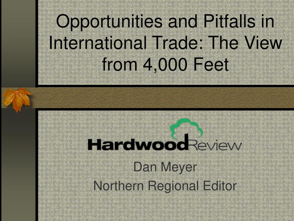 opportunities and pitfalls in international trade the view from 4 000 feet l.