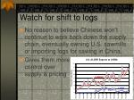 watch for shift to logs