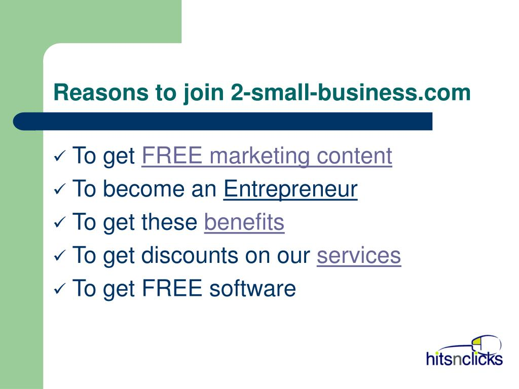 Reasons to join 2-small-business.com