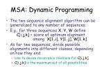 msa dynamic programming