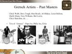 gretsch artists past masters