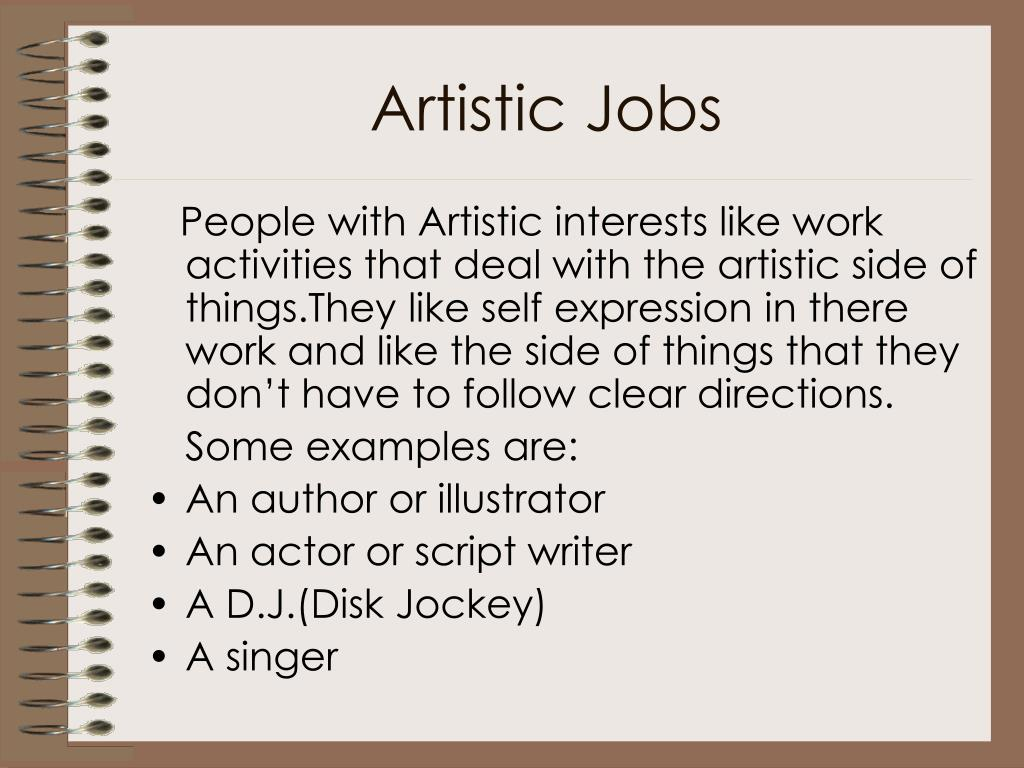 Artistic Jobs