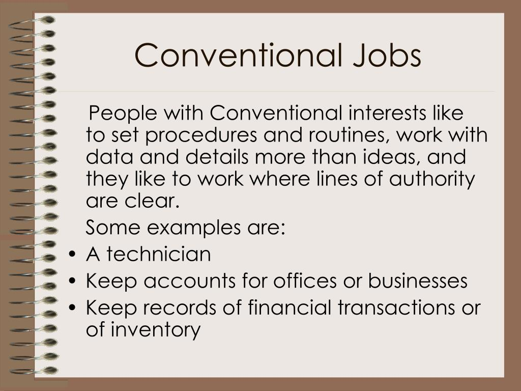 Conventional Jobs