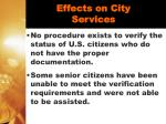 effects on city services27