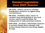 related legislation from 2005 session30