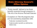 state attorney general s office opinion