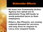 statewide effects