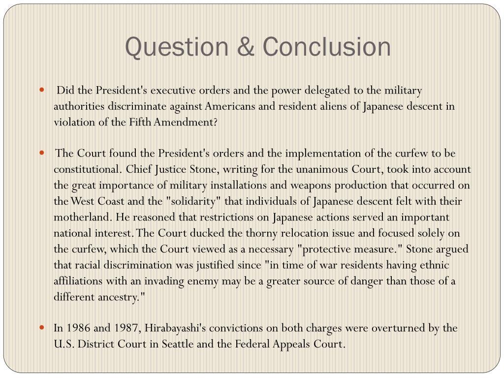 Question & Conclusion