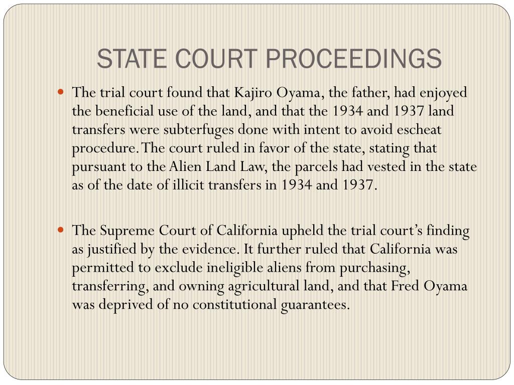 STATE COURT PROCEEDINGS