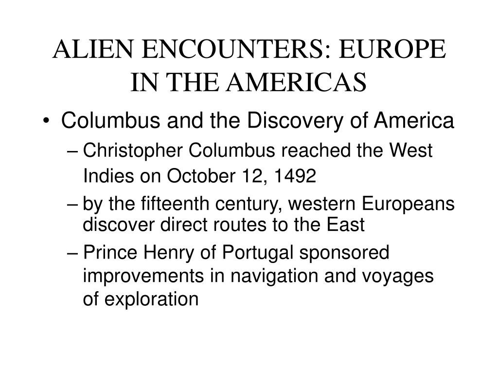 alien encounters europe in the americas l.