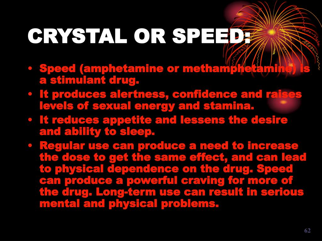 CRYSTAL OR SPEED: