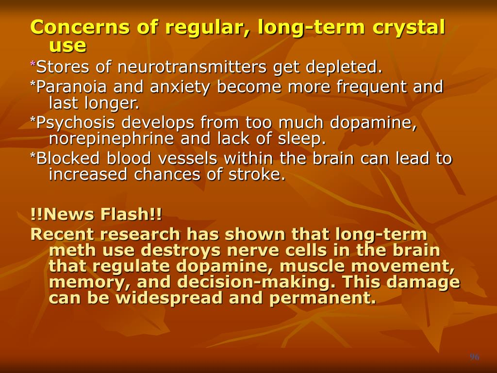 Concerns of regular, long-term crystal use