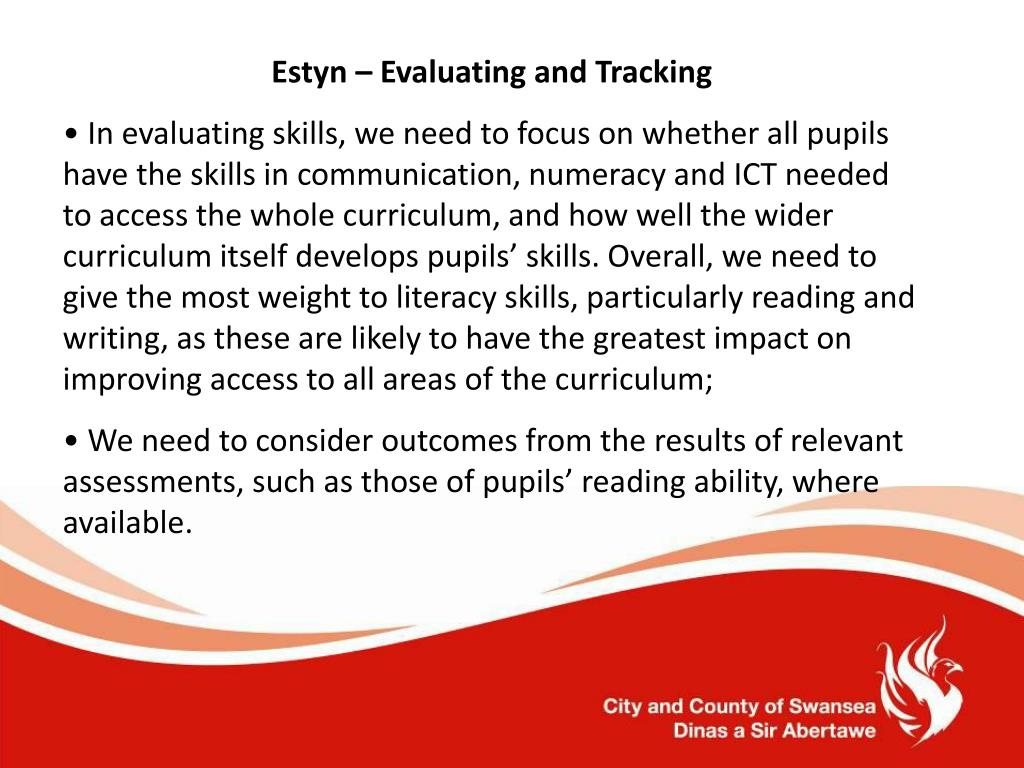 Estyn – Evaluating and Tracking