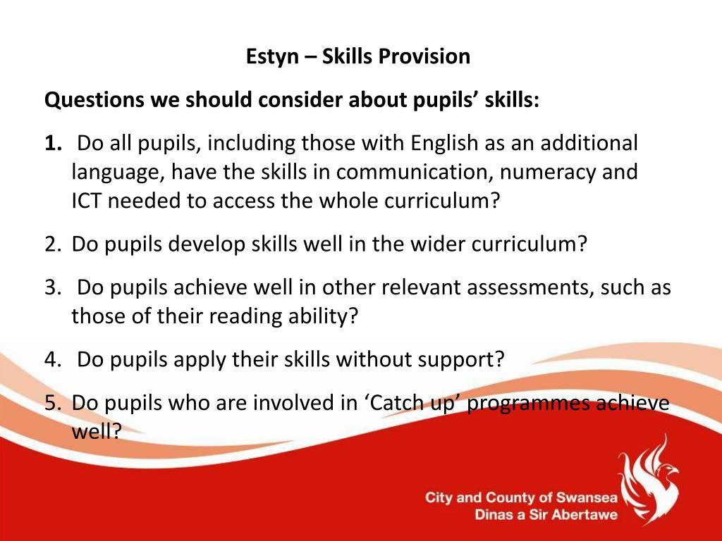 Estyn – Skills Provision