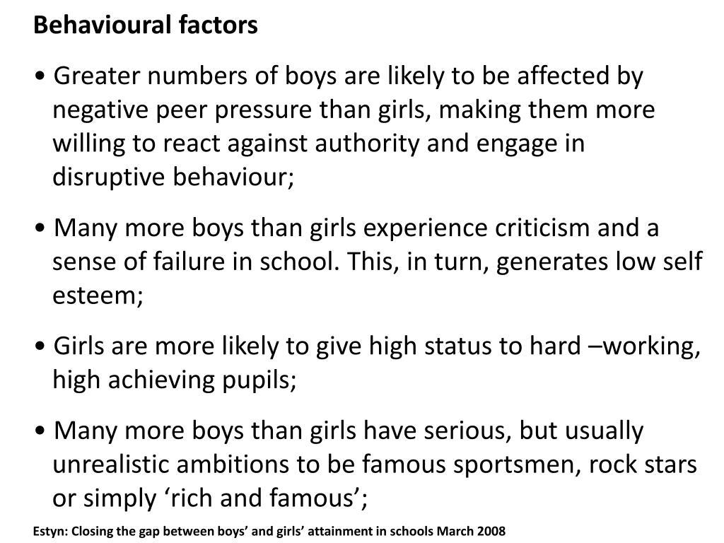 Behavioural factors