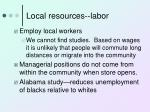 local resources labor