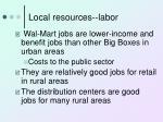 local resources labor15