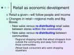 retail as economic development