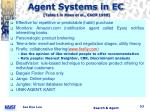 agent systems in ec table 1 in maes et al cacm 1999