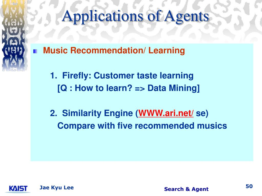Applications of Agents